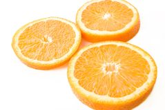 Juicy Orange section Stock Photography
