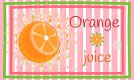 Juicy orange slice. Citrus theme. Card Stock Image