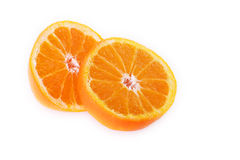 Juicy orange sliced Stock Photography