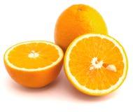 Juicy oranges. Isolated on white background royalty free stock image