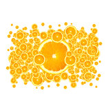 Juicy Oranges. It is not just an excellent background for juice advertising, but the image that will catch the eye of anyone who is thirsty, needs of boost of Royalty Free Stock Photography