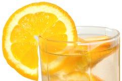 Juicy oranges in glass. Juicy oranges in glass on isolated background stock images