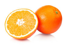 Juicy Oranges Refreshment. On a white background Royalty Free Stock Photography