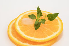 Juicy oranges slice Royalty Free Stock Photo