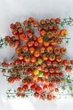 Juicy organic Cherry tomatoes  over white background Royalty Free Stock Photos