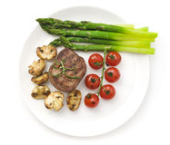 Juicy Organic Grilled Steak Stock Images
