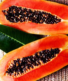 Juicy papaya Stock Images