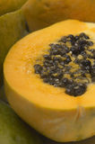 Juicy Papaya With Seeds Stock Image