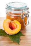 Juicy peach jam Royalty Free Stock Images