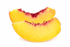 Juicy peach slices Royalty Free Stock Images
