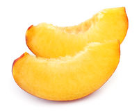 Juicy peach slices Royalty Free Stock Photos