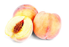 Juicy peach on a white Royalty Free Stock Photo