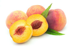 Juicy peaches Stock Images