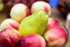 Juicy pear and nektarines Stock Images