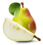 Juicy pears isolated on the white background Stock Photography