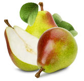 Juicy pears isolated on the white background Stock Image