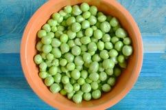 Juicy peas close-up royalty free stock image