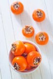 Juicy persimmon Stock Photo