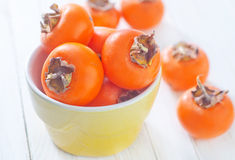 Juicy persimmon Stock Image