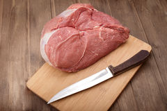 Juicy piece of raw meat Royalty Free Stock Photos