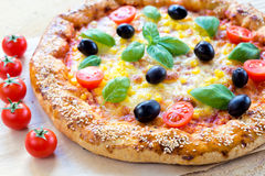 Juicy pizza Royalty Free Stock Photography