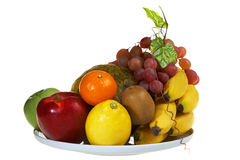 Juicy plate of Fruits Royalty Free Stock Photography