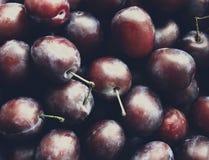 Juicy plum on the table Stock Photo