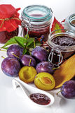 Juicy plums for a jams Stock Photo