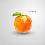Juicy polygon orange. Abstract illustration , origami. Vector Royalty Free Stock Image