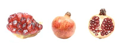 Juicy pomegranate! Stock Image