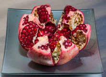 Juicy pomegranate fruit Stock Image