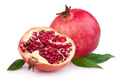 Juicy pomegranate and half Stock Image