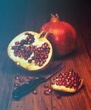 Juicy pomegranate open Royalty Free Stock Photo