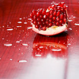 Juicy pomegranate seeds. Royalty Free Stock Image