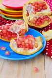 Juicy pomegranate , whole , ripe and cut open Royalty Free Stock Photography