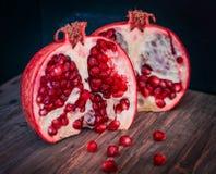 Juicy pomegranates . Stock Photography