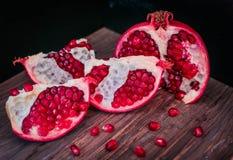 Juicy pomegranates . Stock Images
