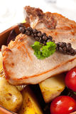 Pork chop and potatoes Royalty Free Stock Photography