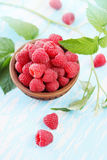 Juicy raspberry, top view Royalty Free Stock Photography