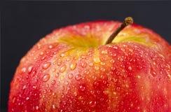 Juicy red apple on black Royalty Free Stock Image