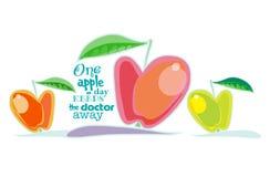 Juicy red apple Stock Image