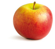 Juicy red apple on a white background Royalty Free Stock Image