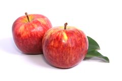 Juicy Red Apples. Red Apples on a white background Royalty Free Stock Image