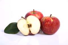 Juicy Red Apples. Red Apples on a white background Royalty Free Stock Photography
