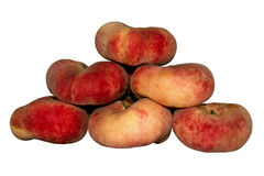 Juicy red fig peaches Stock Photos