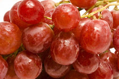 Juicy red grape background Stock Photos