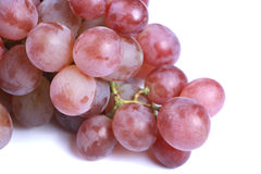 Juicy Red Grape Closeup Stock Images