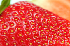 Juicy Red Strawberry Close-Up Royalty Free Stock Photos