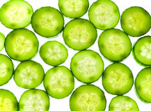 Juicy rings of a cucumber Royalty Free Stock Images