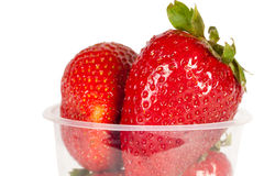Juicy ripe berry strawberry in glass Royalty Free Stock Image